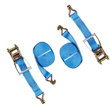 2 x 50mm x 10 metre x 5000kg TIE DOWN RATCHET LASHING STRAPS + Claw Hook trailer